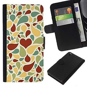All Phone Most Case / Oferta Especial Cáscara Funda de cuero Monedero Cubierta de proteccion Caso / Wallet Case for HTC DESIRE 816 // Creative love pattern