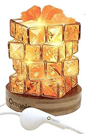 Amazon.com: Lámpara de sal del Himalaya natural y cuentas de ...