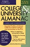 College and University Almanac 2001, Peterson's Guides Staff, 0768904269