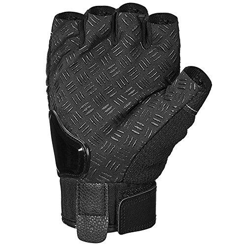 ILM Alloy Steel Bicycle Motorcycle Motorbike Powersports Racing Gloves (XL, HF-BLACK) by ILM (Image #2)