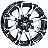 STI HD3 Machined/Black OEM ATV Wheel 14x7 (4/137) - (6+1) [14HD307N]