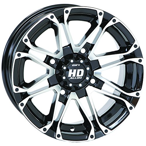 4/156 STI HD3 Alloy Wheel 14x7 4.0 + 3.0 Black Machined POLARIS by STI (Image #2)