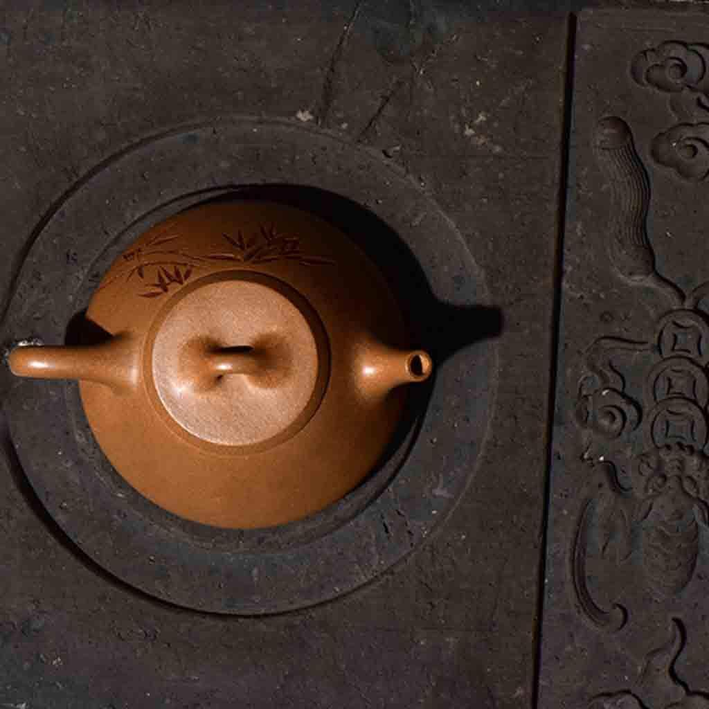 Tea Cozies Zisha Pot Pure Hand-Made Section mud Stone Scoop Xi Shi Antique Household Kung Fu teapot Tea Set (Color : Brown, Size : 16.76.87.8cm) by Tea Cozies (Image #2)