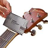 Marrywindix String Action Gauge Ruler Guide Setup Guitar Measuring Fork Bass Luthier Tool