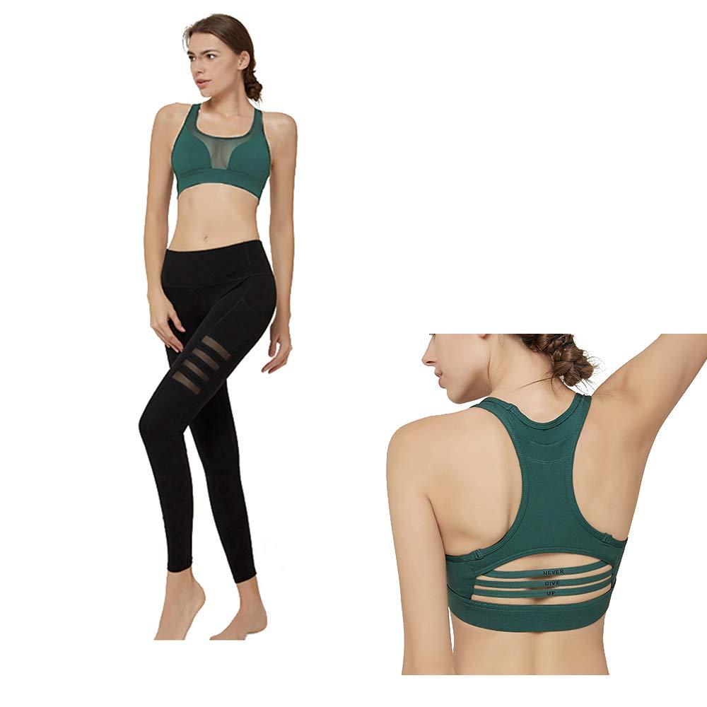 CNMF Yoga Wear Set, Sport Fitness Yoga Damen Sportswear Wear/Weste und Top & Leggings Stretch-Fit Yoga Gym Set Trainingsweste Damen Trainingsbekleidung Ärmellose Weste Laufhose Yoga Anzug