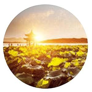 alfombrilla de ratón paisaje del lago del oeste con la puesta del sol, Hangzhou - ronda - 20cm