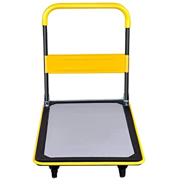 Amazon.com : ASdf Warehouse Load Folding Platform Trolley Large Capacity Carrying Manual Platform Trolley (Color : Yellow) : Garden & Outdoor