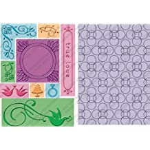 Cuttlebug 2000284 All-in-One Embossing Plates, True Love