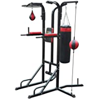 Power Boxing Station Stand Gym Speed Ball Punching Bag Dodge Ball 3-in-1 Fitness Training Workout