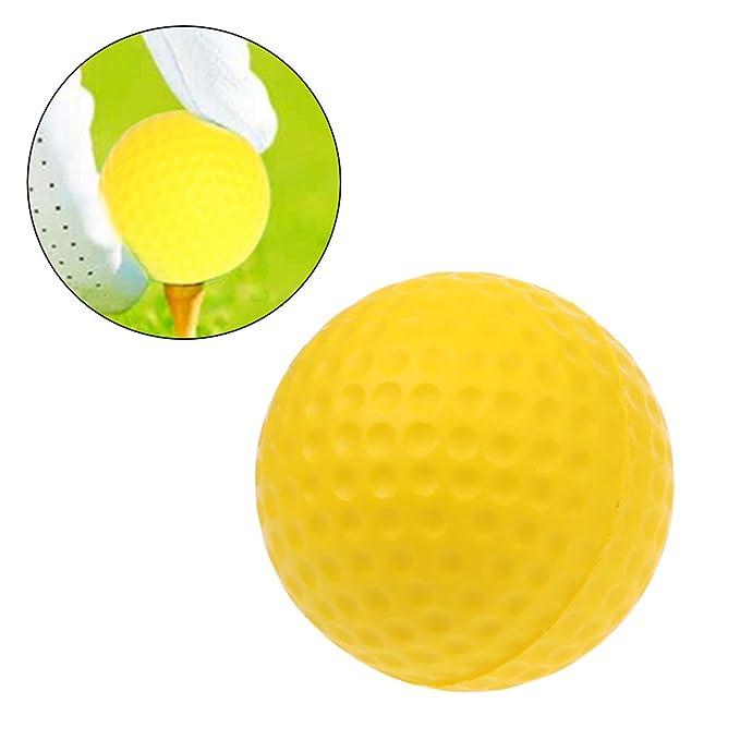 Pelota de golf de espuma amarilla para entrenamiento, pelota de ...