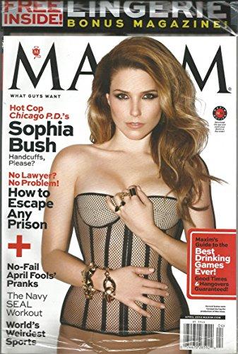 Maxim Magazine (Sophia Bush W/ Lingerie Bonus,April 2014) (Sophia Bush Bush)