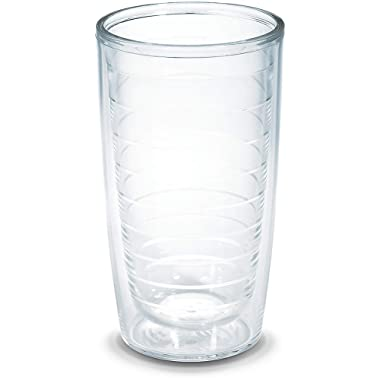 Tervis 1001831 Clear & Colorful Insulated Tumbler 2 Pack - Boxed 16 oz Tritan Clear
