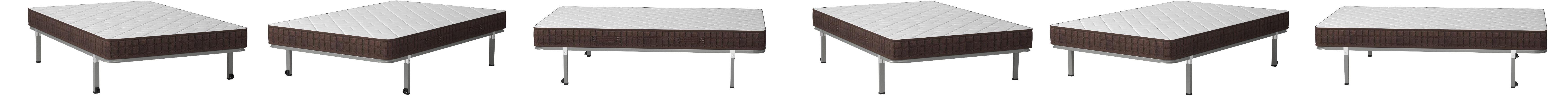HOGAR24 ES Cama Completa-Colchón Viscobrown Reversible + Somier Basic + 4 Patas, 120x180