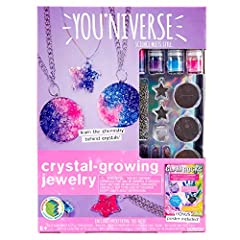 Explore the chemistry behind crystallization and create custom crystal jewelry with the You*Niverse crystal-growing jewelry kit! Grow and design Five pendants and a ring. Observe the growth of the crystals overtime and watch how they complete...