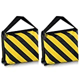 Neewer Set of Two Black/Yellow Heavy Duty Sand Bag Photography Studio Video Stage Film Sandbag Saddlebag for Light Stands Boom Arms Tripods