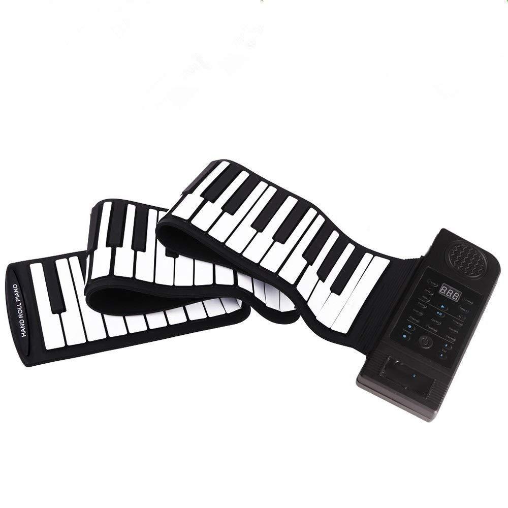 フレキシブルロールアップピアノ 教育厚みのある88キーフレキシブルロールアップ電子デジタル音楽ピアノキーボードMIDIポータブルデザイン録音付き再生機能128トーン128リズム45デモ曲内蔵スピーカー 初心者向け (色 : : ブラック+ホワイト, サイズ : Free 初心者向け Free size)Free sizeブラック+ホワイトB07Q9Z1NGK, ミサトチョウ:4ec99e06 --- publishingfarm.com