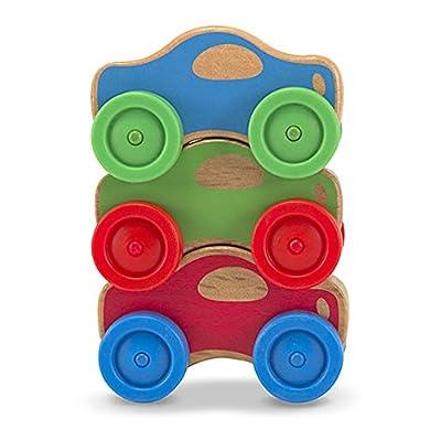 Melissa & Doug Stacking Cars: Toys & Games