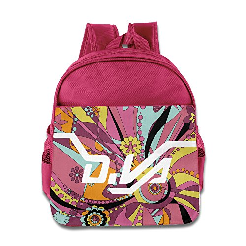 Price comparison product image CEDAEI D.VA LOGO Over First-person Shooter Video Game Watch Funny Kids Children School Backpack For 1-6 Years Old Pink