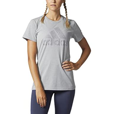 adidas Badge of Sport Macy Tee at Amazon Women s Clothing store  b6936798d6b47