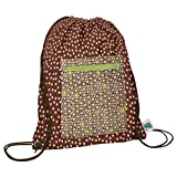Planet Wise Drawstring Sports Bag, Lime Cocoa Bean, Made in the USA