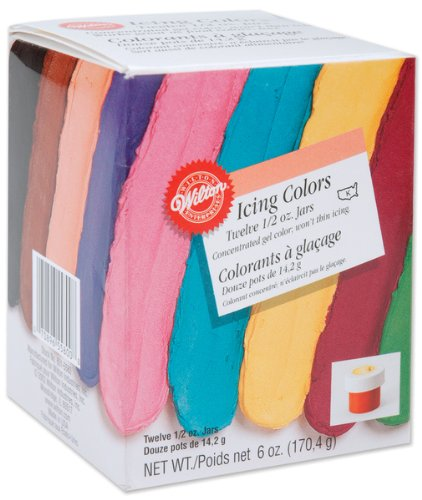 Icing Colors Assorted - 12 Oz. *** Product Description: Icing Colors Assorted - 12 Oz. Made To Produce Deeper, Richer Colors With Just A Small Amount Of Dye. The Concentrated Gel Formula Helps You Achieve The Exact Shade You Want Without Thinning ***