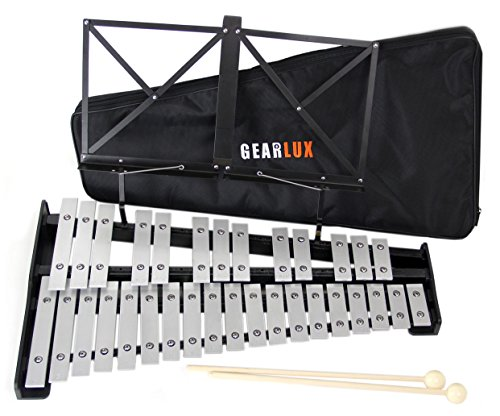 Gearlux 32-Note Glockenspiel Bell Set with Carrying Bag by Gearlux