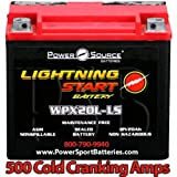 Harley FXDC Dyna Super Glide Custom 1340 1450 1584 1690 500cca Lightning Start 20ah High Performance AGM Motorcycle Battery replacement for year 1992 2005 2006 2007 2008 2009 2010 2011 2012 2013 2014