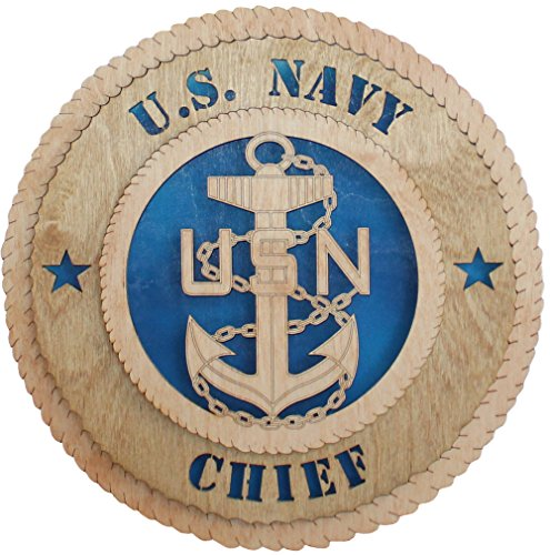 "11.3"" Navy Chief Large Wooden Plaque"