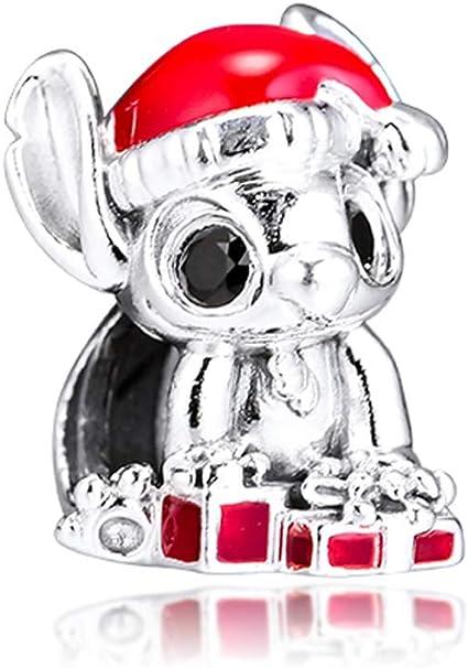 FUNSHOPP 2019 Winter Stitch Christmas Charm Bead 925 Silver DIY Fits for  Original Pandora Bracelets Charm Fashion Jewelry