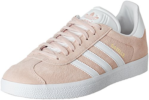 adidas Gazelle, Zapatillas Unisex Adulto Multicolor (Vapour Pink/White/Gold Metalic)