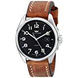 "Glycine Unisex 3890-17ATS-LB7BH ""Combat"" Stainless Steel Automatic Watch with Brown Leather Band"