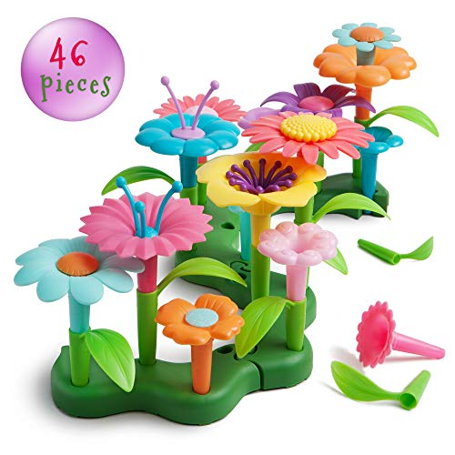 Life Frenz Build and Bloom Children Green Toy - DIY Creative Flower Set - 46 pcs - Preschooler Learning Kits - Building Blocks For Toddlers - 3 Year Old Gift Ideas - Best Gifts For 4 Year Old Boy Girl]()