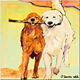 Trademark Fine Art Stick With Me by Pat Saunders-White Canvas Wall Art, 24x24-Inch