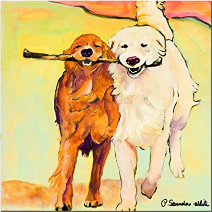 Amazon.com: Stick With Me by Pat Saunders-White, 24x24-Inch Canvas ...