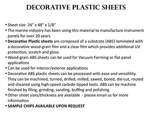 Carbon Fiber ABS sheet for boat instrument panels 24