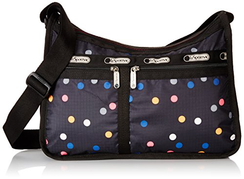 LeSportsac Deluxe Everyday Handbag, Litho Dot, One (Lesportsac Deluxe Shoulder Satchel)