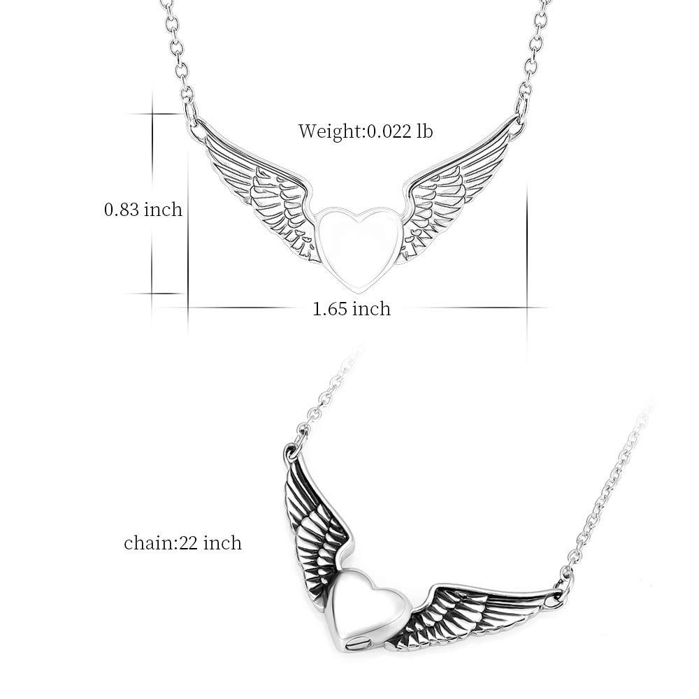 memorial jewelry Foreverlove Angel Wings Pendant Memorial Ashes Urn Pendant Cremation Ashes Urn Jewelry by memorial jewelry (Image #2)
