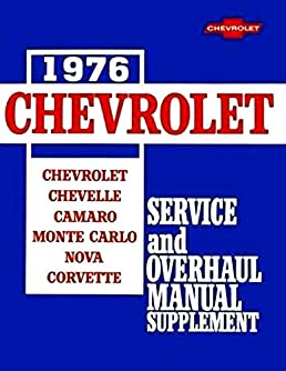 complete unabridged 1976 chevrolet camaro factory repair shop rh amazon com 1975 Camaro 1969 Camaro