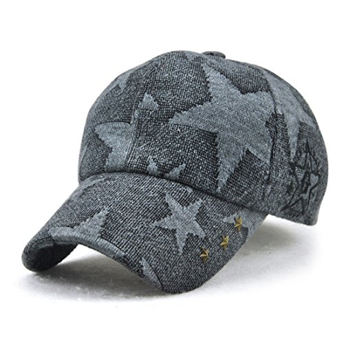 (King Star Women Rivet Fashion Adjustable Baseball Cap Snapback Trucker Hat Grey)