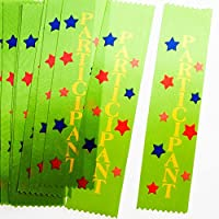 "Fun Express ""Participant"" Satin Award Ribbons, 12 Pieces, Green"