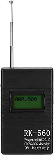 Tangxi RK560 Mini Radio Frequency Meter with CTCSS DCS Decoder 50MHz-2.4GHz Portable Handheld Radio Frequency Testing