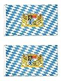 Beistle 53332, 2 Piece Bavarian Flags, 3' x 5'