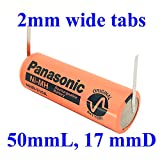 Panasonic NiMH Replacement Battery Compatible with Braun Oral-b Type 3731 Or 3745 Toothbrush, with Narrow tabs (50Lx17D mm, 2200 mAh, Off-Centered tab at Negative)