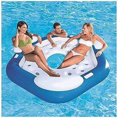 NHMPP Colchonetas Piscina Flotadores Gigantes Flotador Colchoneta Hinchable Hinchables para Gigante Playa, Ocean Paradise Lounge Chair Cama Flotante Flotante Flotante Natació: Amazon.es: Hogar