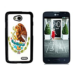 Mexican FLAG Hard Plastic and Aluminum Back Case for LG Optimus L70