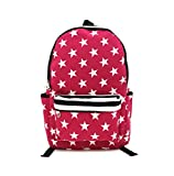 Shopaholic Star Pink School Bagpack For Younsters/Teenagers-Pink