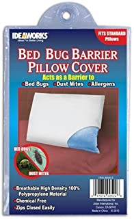 ideaworks bed bug barrier pillow covers 1pack of 2 - Bed Bug Mattress Covers