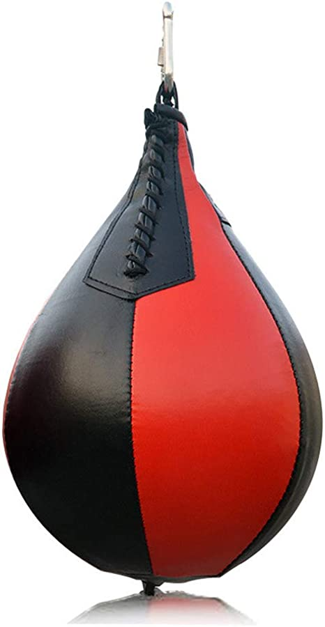 PU Leather Boxing Ball,Speed Ball Gym MMA Boxing Sports Pear Punch Bag,Wrecking Ball Heavy Bag,Hanging Swivel Workout Speedball