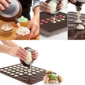 CXLKST Silicone Macaron Baking Decorating Pen + 4 Nozzles Set DIY Tool