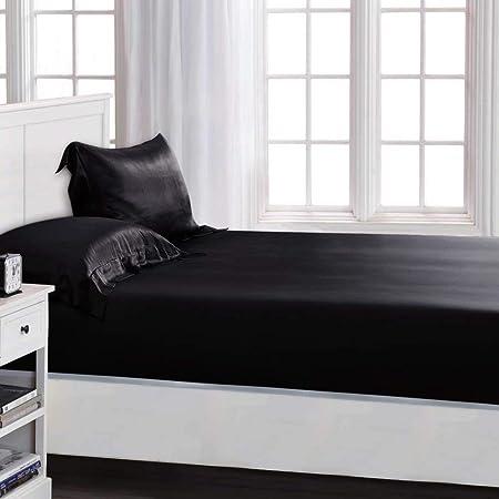 ElleSilk Silk Fitted Sheet, 100% Silk Sheet, 22 Momme Silk Bed Sheets,